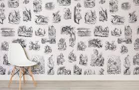 alice in wonderland wallpaper mural murals wallpaper