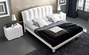 white ash bedroom furniture vertical lines leather padded headboard bed in italian white ash