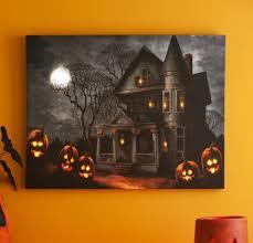 haunted mansion led canvas print kirklands