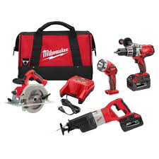 black friday home depot power tool sets milwaukee m28 28 volt lithium ion cordless combo kit 4 tool 0928