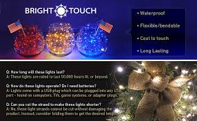 how long are christmas lights amazon com brighttouch mini led string lights powered by usb