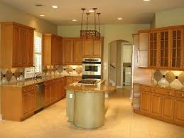 Light Brown Cabinets by Oak Cabinets Kitchen Ideas