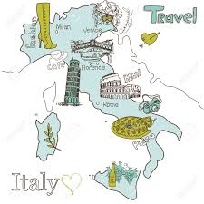 Venice Italy Map Creative Map Of Italy Royalty Free Cliparts Vectors And Stock