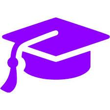 purple graduation cap violet graduation cap icon free violet graduation cap icons