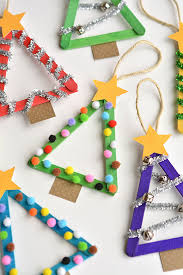 popsicle tree ornaments crafts