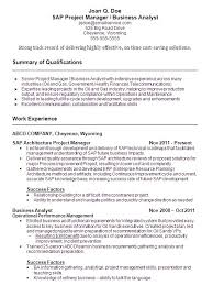 Best Project Manager Resume by Sap Project Manager Resume The Best Letter Sample