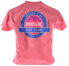 jeep shirt pink jeep tours logo t shirt pink jeep tours store