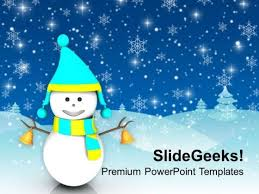 winter powerpoint template snowflake powerpoint template