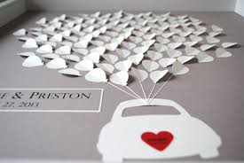 creative wedding guest book ideas wedding guest book alternative 3d balloons car silhouette