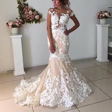 pink lace wedding dress blush pink lace meramid fashionable wedding dress siaoryne