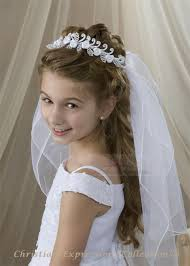 1st communion veils communion wreath veil satin roses and pearls holy