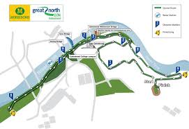 Map Run Route by Great North 10k 2017