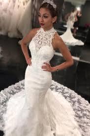 high neck wedding dresses sweep high neck dress 2018 retro lace sleeveless