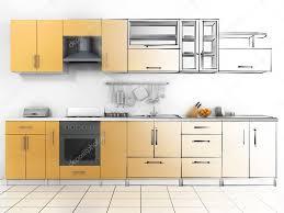 Sketch Kitchen Design by Abstract Sketch Design Of Interior Kitchen Wireframe Render