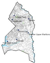 prince georges county map prince george s county md