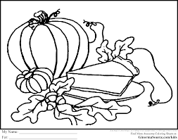 free thanksgiving coloring pages pumpkin pie ginormasource kids