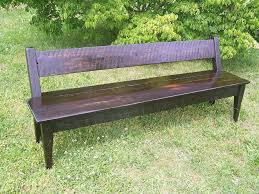 Farm Benches - buy a hand crafted antique reclaimed tulip tree farm bench made