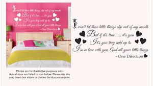 wall stickers quotes one direction color the walls of your house wall stickers quotes one direction about one direction little things song lyrics wall sticker decal