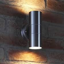 outdoor double wall light auraglow stainless steel indoor outdoor double up down wall light