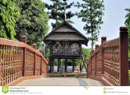 Traditional House Traditional House On West Kalimantan Indonesia Stock Photo