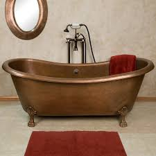 Copper Bathroom Faucet by Bathrooms Stunning Bathroom With Round Copper Bathtub Near
