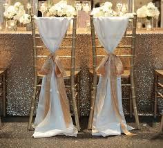 chiffon chair sash hot sale white taffeta chair sashes with golden chagne ribbon