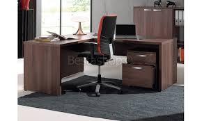 bureau d angle bureau d angle contemporain coloris noyer rosana 200cm pas cher