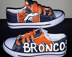 broncos shoes etsy