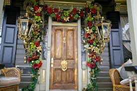glamorous traditional entrance applying wooden door and lantern