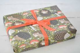 hedgehog wrapping paper gift wrapping service by blue sky papers