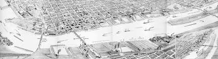 Bay City Michigan Map by Map 1890 Bay City Mi River Birdseye View Bay Journal