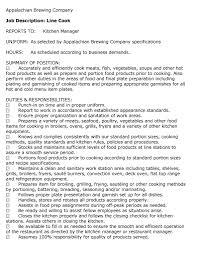 Cook Objective Resume Examples by Food Preparer Job Description 20 Resume Job Description Company