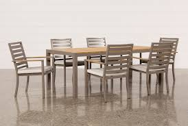 Teak Dining Room Tables Outdoor Brasilia Teak Dining Table With 6 Chairs Living Spaces