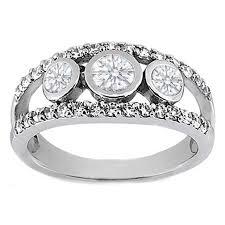 band engagement ring european engagement ring 0 63 carat three