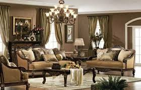 Decorative Wood Curtain Rods Amazing Living Room Window Treatment Ideas Using Gold Drapery