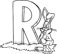 rabbit free alphabet coloring pages alphabet coloring pages of