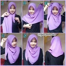 tutorial hijab segi empat paris simple 25 tutorial hijab segi empat praktis cara memakai jilbab paris