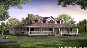 square house plans with wrap around porch country style house plans one floor youtube