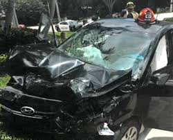 photos show dead man u0027s car after venus williams wreck daily mail