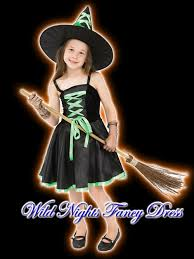 Halloween Costumes Kids Age 11 Costume Girls Ribbon Witch Green Lg Age 9 11