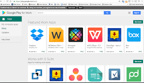 managing apps for android for work