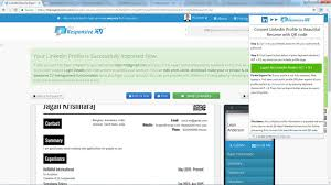 Linkedin Resume Creator by Linkedin Resume Builder Import Your Linkedin Profile In 3 Easy Steps