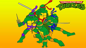 teenage mutant ninja turtles coloring children turtles
