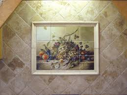 kitchen mural backsplash decorative tile backsplash kitchen tile ideas fruit bouquet ii