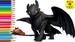toothless dragon coloring kids train