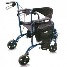 medline translator rollator transport chair