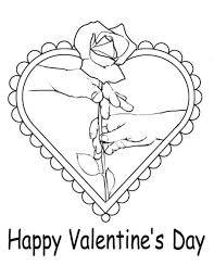 giving a rose in valentines coloring pages valentine coloring