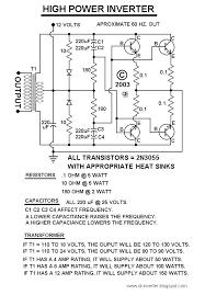 50 150 watts power inverter circuit using 2n3055 circuit diagram