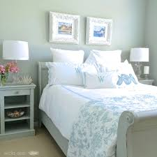 Coastal Bedroom Ideas by Restoration Hardware Silver Sage Gray Green Blue Color Which