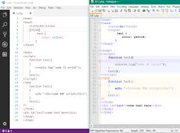 layout editor comparison php js html code segments highlighting issue 49830 microsoft